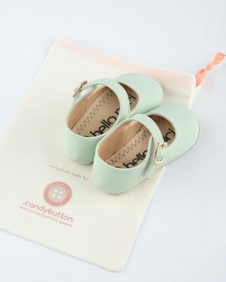 Mary Jane Prewalker Shoes in Mint