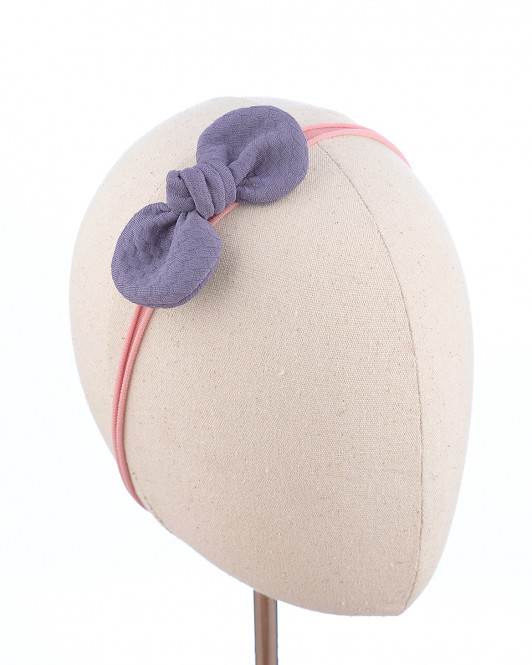 Mini Knot Headband in Purple