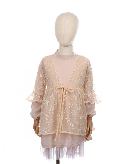 Ayara Lace Outer in Peach