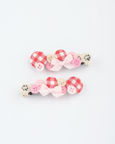 Berry Hairpins in Red