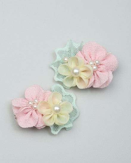 Angel Hairpin in Peach