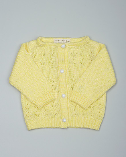 Maddie Knit Cardigan in Yellow