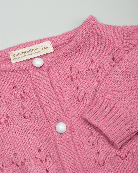 Maddie Knit Cardigan in Peony