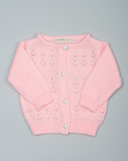 Maddie Knit Cardigan in Pink