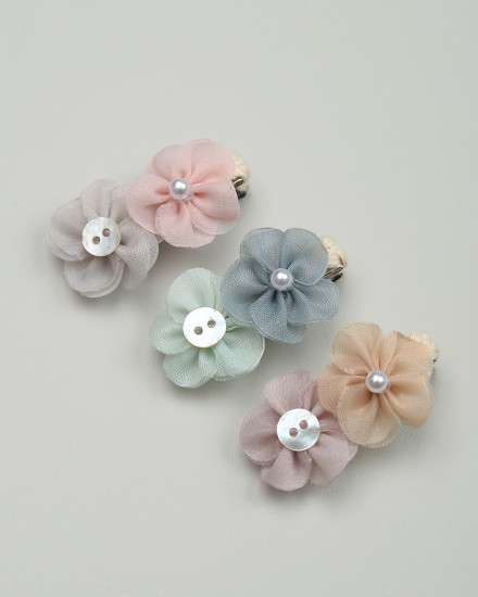 Laurel Mini Hairpin in Blush