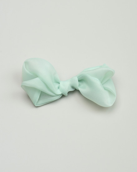 Isable Organza Bow in Sage Green