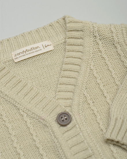 Aron Knit Cardigan in Cream