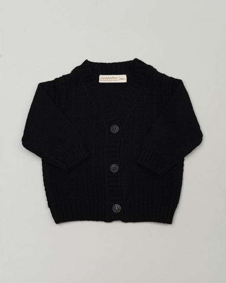 Aron Knit Cardigan in Black