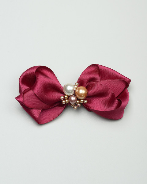 Ornaments Bow in Burgundy