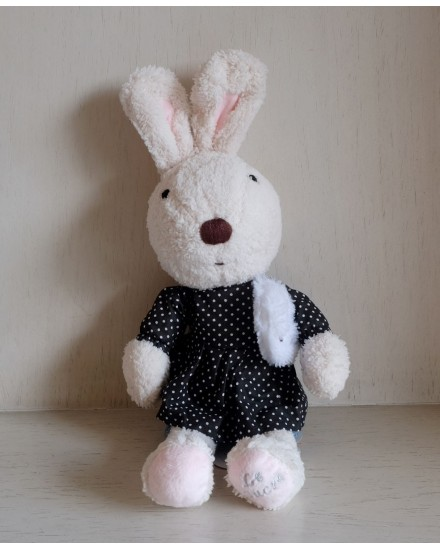 Le Sucre Rabbit Black Polkadot