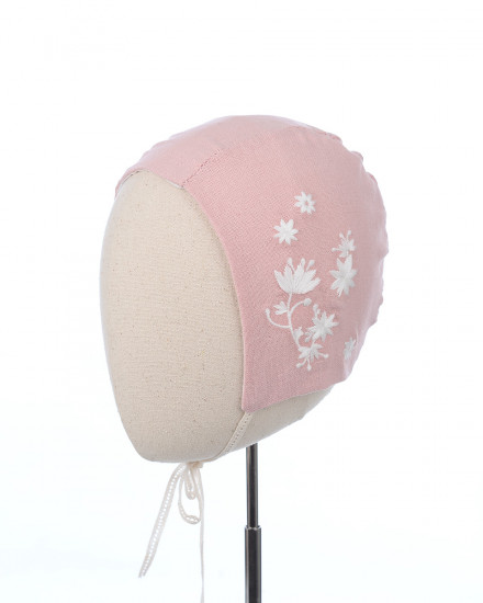 Kirana Embroidery Bonnet in Pink