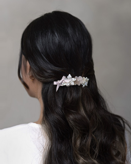 Cersei French Hairclip in Pearl