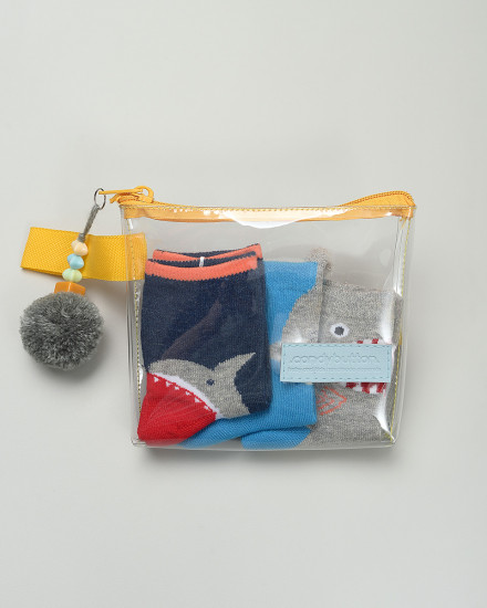 .candybutton. Socks Package - Shark