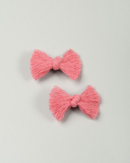 Indie Bow Mini Hairpin in Pink