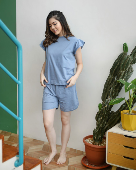 Chamomille Mom Set in Blue Pea