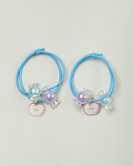 Candy Apple Hairbands in Blue