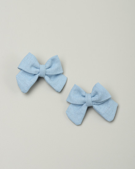Kyoto Bow Hairpin in Sky Blue