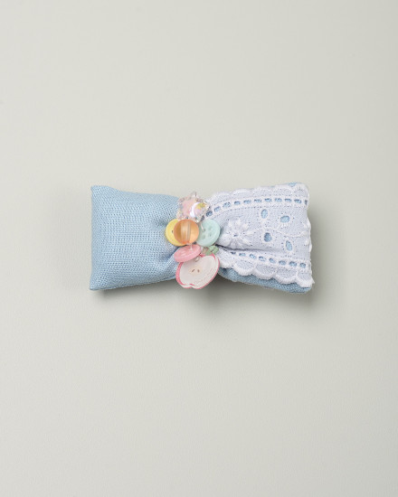 Puffy Bow Hairpi in Sky Blue