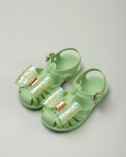 Pippin Jelly Shoes in Green