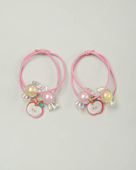 Candy Apple Hairbands in Cerise