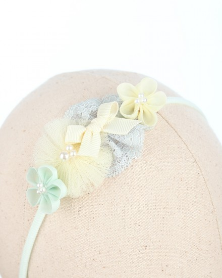Brielle Baby Headband in Yellow