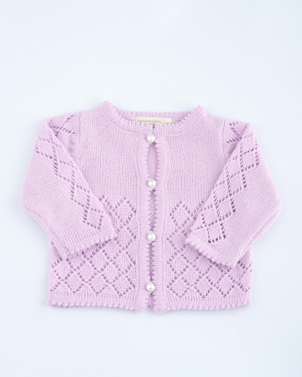 Cecille Knit Cardigan in Lilac