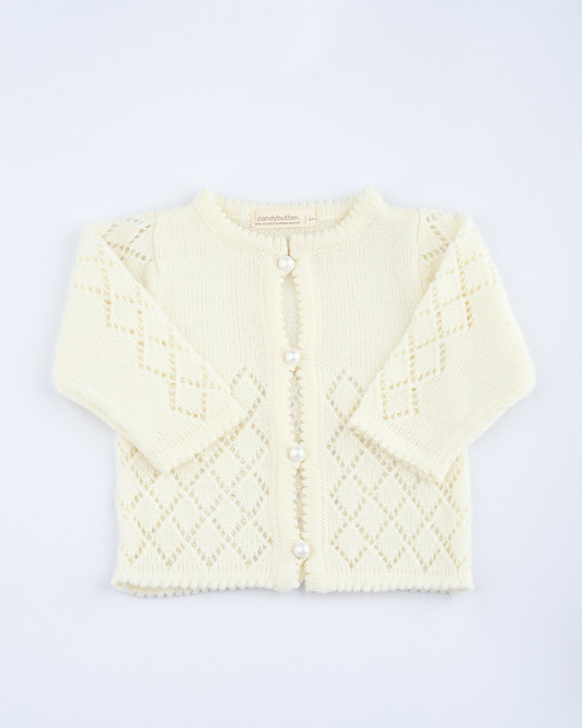 Cecille Knit Cardigan In Beige