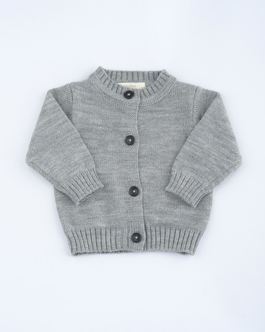 Riley Knit Cardigan in Grey