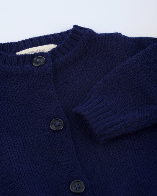 Riley Knit Cardigan in Navy