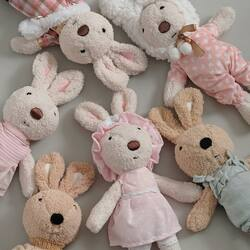 RESTOCK ALERT 🐰🐰🐰 . Our Favorite Le Sucre Rabbit Dolls are back! #dirumahaja? Why don't you give you loved ones a new bunny friends 🐰🐰🐰🐰 . Click link on our profile for ordering ❤️❤️❤️❤️ . #candybutton #candybuttonshop #dolls #bunnydolls #rabbitdolls #lesucrerabbit #bonekaanak #mainananakperempuan #mainananak