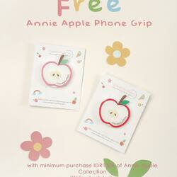 #mamakgarugi : Get our special Annie Apple Phone Grip every purchase of IDR 150,000 of Annie Apple Collection 🍎🍎🍎🍎Get it now while stock last 🥰😘🌈 . #candybutton #phonegrip #kidsfashion #kidsclothing