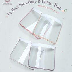#frommomformom : we hear & make it come true 😘 Mau request apa lagi? 😘😘😘👇🏻👇🏻👇🏻👇🏻 . In Frame : Face Shield Replacement IDR 29,000 only