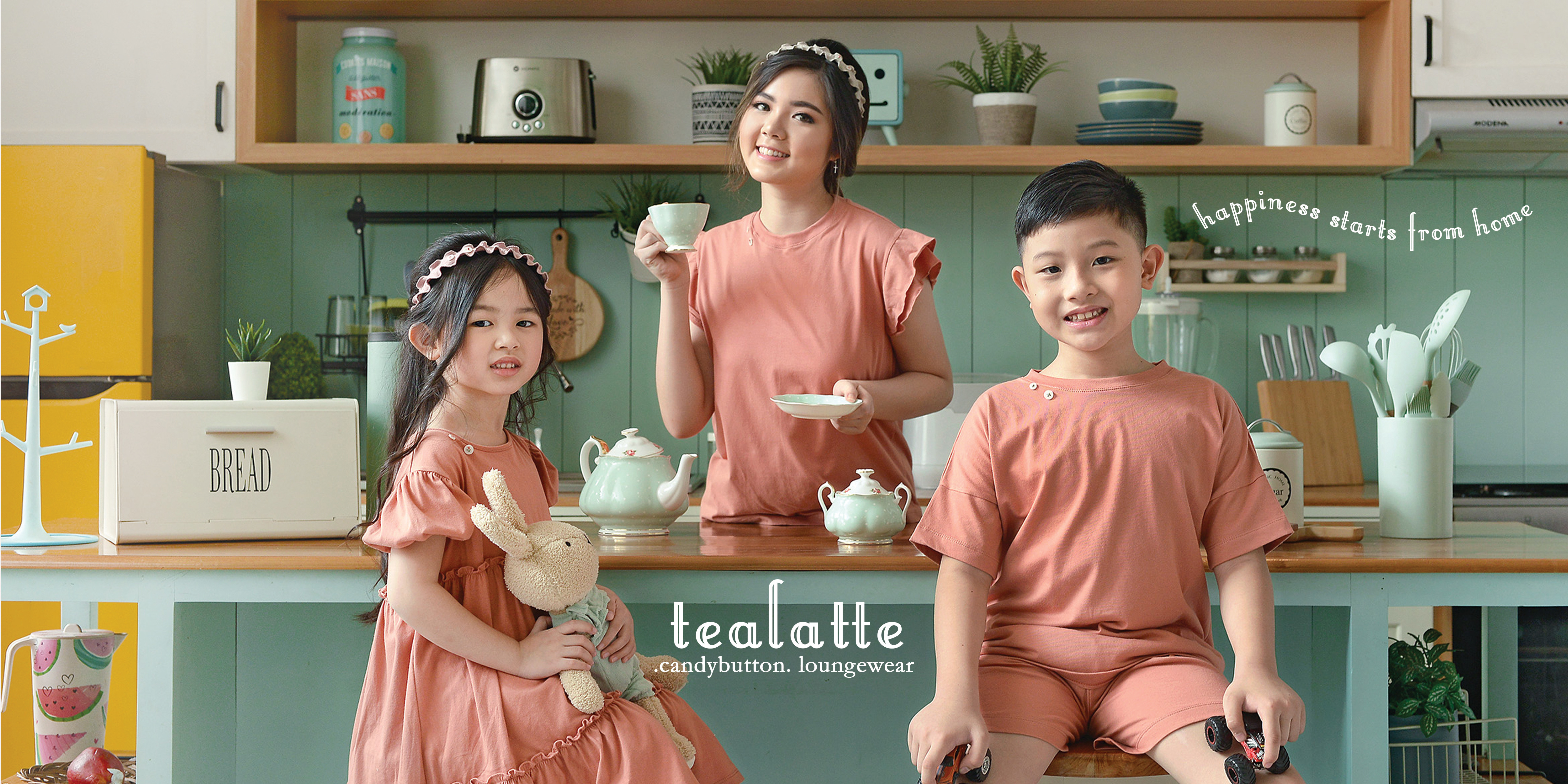 Tealatte - .candybutton. Loungewear Collection